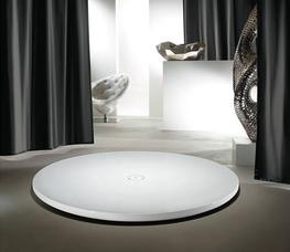 This Kaldewei Circular Shower Tray is made from steel enamel and gives it the appearance of floating above the bathroom floor.  Kaldewei Piatto has a centrally positioned outlet thats colour matches that of the shower tray and echoes its circular form to creat...