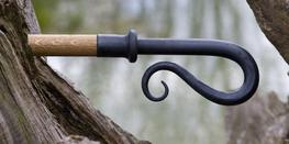 Wrought Iron Shepherd's Crook Finial image