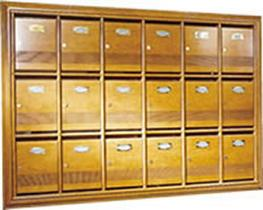 Wooden DN2000v - Mailboxes / Post Boxes / Letter Boxes  Hand crafted wooden post box with security lock   Front entry front retrieval   Each letter box comes complete with 2 keys. Extra keys available on request.       Each letter box comes complete with 2 key...