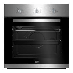 The Beko BNIC22100X Conventional Oven is a large capacity oven which has an easy clean enamel interior making it ideal for families. With a 71L capacity and a family sized cooking tray, you won't be short for space....