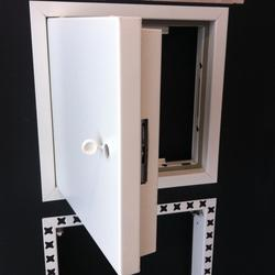 Acousticdor Access Panels are available in a variety of options and are manufactured to suit your exact requirements on site from 28mm deep and non fire rated upto 55mm deep and 2 hour fire rated, test conducted in accordance with BSEN 1634-1: 2008 and BSEN ...
