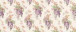 Wisteria Grape Curtain Fabric image