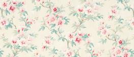 Rosamond Pale Floral Cranberry Curtain Fabric image