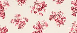 Bramble Cranberry Curtain Fabric image