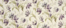 Gosford Plum Floral Linen/Cotton Curtain Fabric image