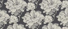 Hermione Charcoal Floral Curtain Fabric image