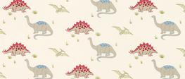 Dinosaurs Curtain Fabric image