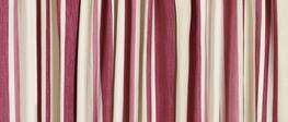 Awning Stripe Pale Cranberry Pencil Pleat Ready Made Curtains image