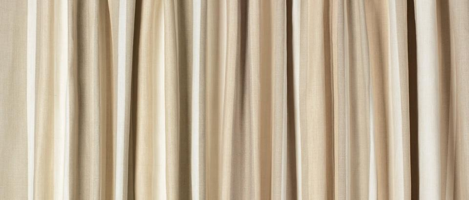 Awning Stripe Cotton Pencil Pleat Ready Made Curtains By