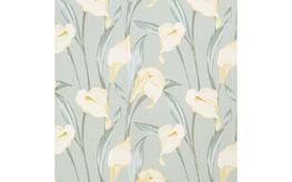 Lilium Grey Green Curtain Fabric image