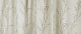 Pussy Willow Natural Pencil Pleat Ready Made Curtains image