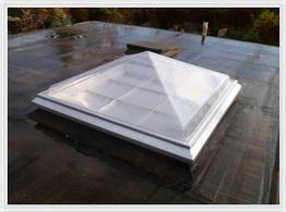 We offer a range of modular polycarbonate domes and pyramids in a range of standard sizes, to suit roof openings up to (please advise).  Our polycarbonate domes and pyramids are supplied complete with aluminium kerbs as listed below, or as glazing units only, ...