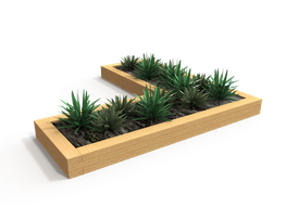 Sleeper Construction Timber Planter image