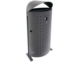 Alto' an elliptical hooded top steel litter bin image