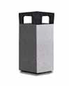 Square Open Top Stone Litter Bin image