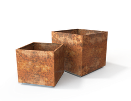 Steel Tree Cube Planter image