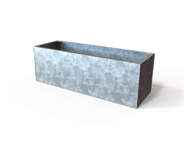 Riveted Steel Trough Planter image
