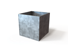 Riveted Steel Cube Planter image