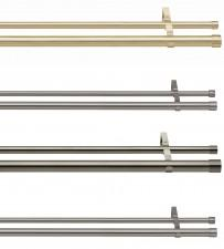 Use Options double layering poles for added privacy and style.  Poles, rings and finials are sold separately allowing you to create your own individual look.  The collars come with the poles, not the finials, so there's no problem with colour matching....