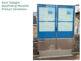 kent tallaght wayfinding monolith by kent stainless specifiedby