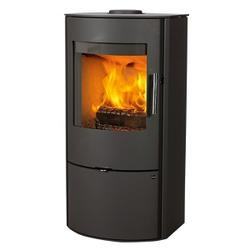 The Nord range of Jydepejsen wood burning stoves impresses with its quality finish and modern design at a reasonable price. Nord is equipped with solid handles and air control in polished stainless steel. The wood is easy to fit into the large combustion chamb...