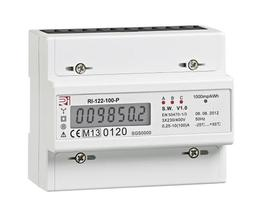 The largest of the Rectric range of Electricity Meters, the RI-122-100-P is capable of monitoring Three Phase Electrical Supplies with a maximum amperage of 100A. The RI-122-100-P has DIN Rail connections on the rear to mount the Meter. This Meter also has MID...
