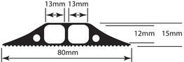 Medium Duty Linkable Floor Cable Cover - D-Line (Europe) Ltd