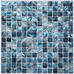 Marine Blue Shell Mosaic image