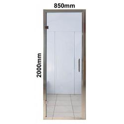 Steam Room Door complete with frame, hinges and door handles in a bright chrome finish with adjustment for untrue walls. Dimensions 2000mm x 850 x 40mm Steam Room Door Specifications: - Air intake at bottom of the steam room door - 6mm Toughened and Tempere...