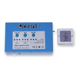 Oceanic Fragrance Pump   The new patented Oceanic Fragrance Pump with unique Fragrance-On-Demand feature allows users to control the pump from inside the steam room at the touch of a button. The small compact unit uses a long life carbon brush pump to quiet...