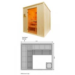 All Oceanic Saunas Cabins are manufactured in our Wolverhampton based factory from kilned dried Scandinavian spruce from managed forests. PTFE and FSC certified.  Each panel is clad on the interior face with extra thick 18mm claddings and filled with rockwo...