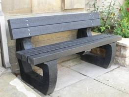Colne 3 seater garden bench moulded ends image