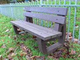 Bradley Garden/Park Bench | Recycled Plastic Outdoor/Garden/Park Seating image