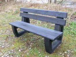 Bradley Garden / Park Bench | Bullnose version | Recycled Plastic image