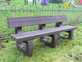 Colne 4 Seater garden bench moulded ends image