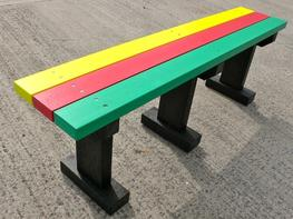 Multicoloured Tees Bench - Park/Garden/Recreation area - No back - Recycled Plastic image