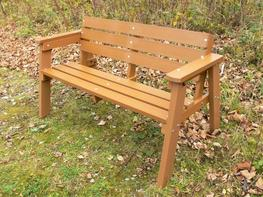 Thames Garden Bench - 3 Seater | Recycled Plastic Wood image