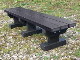 Junior 3 Seater Standard Tees Bench | Recycled Plastic image