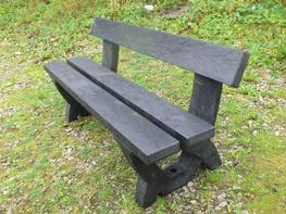 Clyde 3 seater bench - 100% recycled plastic image