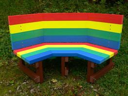 Multicoloured Children's Buddy Bench image
