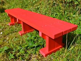Derwent Junior Seat / Bench - Bright Colours - Plastic Wood - Recycled Plastic image