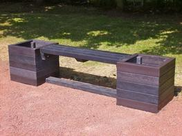 Ribble Planter Bench - recycled plastic image