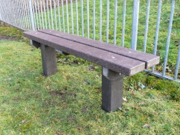 The Spey Bench | Recycled Plastic Seat | Extended Legs image