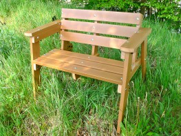 Thames Garden Bench - 2 Seater - Recycled Plastic Wood image