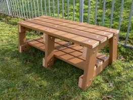Thames Sport Bench - 2 Seater - Recycled Plastic Wood image