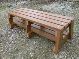 Thames Sports Bench - 3 Seater - Recycled Synthetic Plastic Wood image