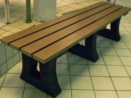 Model: TYNBEN001  High Quality, Long-Lasting and Waterproof - 25 Year Guarantee  This Thames bench, made up of a combination of plastic wood and mixed plastic, is absolutely ideal for wet areas. It absorbs no moisture and will not suffer from the problems normally associated with wood, such as rotting, cracking, chipping, splintering etc.  An excellent cost-effective, maintenance-free bench that will save you money in the long run in the cost of maintenance and replacement. Install it once and forget about it - 25+ Year Guarantee.  A highly Eco-friendly bench. Made up of a combination of Recycled CD and contact lens cases, and old paint buckets and paint trays - installing this bench reduces plastic waste pollution and means you are helping to pave the way for waste plastic to be reused into something beneficial, instead of wasting away and piling up over centuries in a landfill. A great educational tool as well as a great way to save money.  Water Proof Highest level of UV protection Graffiti easily removed - we advise WD40 and Ultra fine wire wool Made from Plastic wood and Recycled Mixed Plastic - Very Strong and Robust Will not rot, warp, crack, chip or split Frost resistant Mould cannot embed Eco-friendly - 100% Recycled and 100% Recyclable