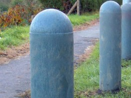 Recycled Mixed Plastic BOLLARD DOMED TOP 150mm dia image