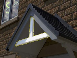 Canopy/Porch Pediment | Plastic Wood | Recycled Plastic image
