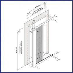 Roller Door - S700 Series - Side Mounted - Domestic - Made to Measure - The Flyscreen Company Ltd
